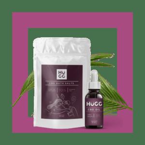 HuGG CBD Gift Kit with CBD Oil & CBD Bath Salts