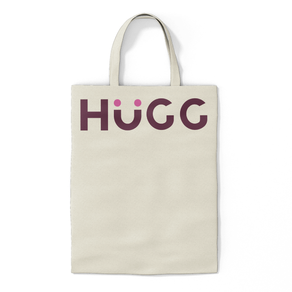 HuGG Cotton Tote Bag (Back)