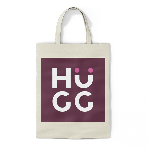 HuGG Cotton Tote Bag (front)