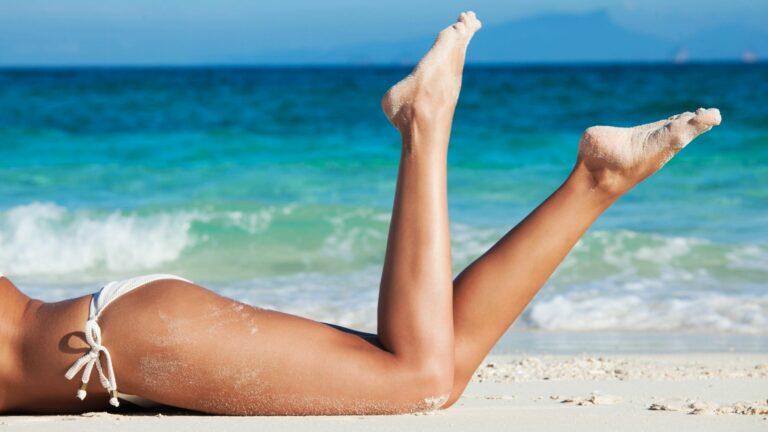 summer legs that glow